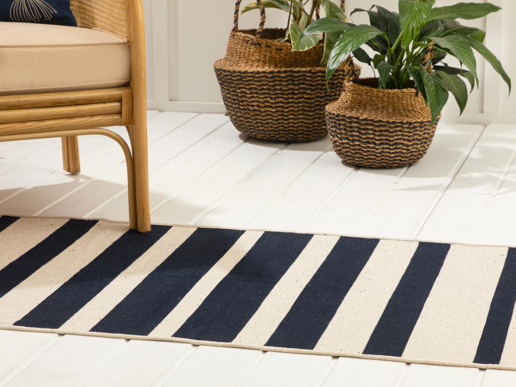 Stripes Cottony Rug 80x150 Cm Lacivert