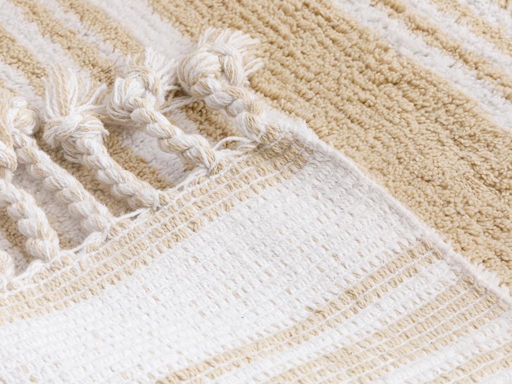 Lilia Cotton Bath Mat 60x90 Cm Beige