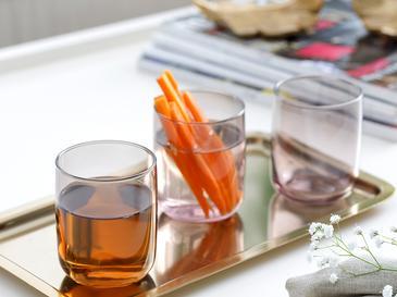 Degetto Чаша за Безалкохолно 3 Бр. 270 Мл Сиво-Розово