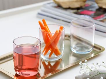 Degetto Чаша за Безалкохолно 3 Бр. 270 Мл Зелено-Розово