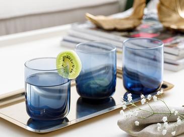 Blue Nature Чаша За Безалкохолно 3 Броя Стъкло 270 Cm Синьо