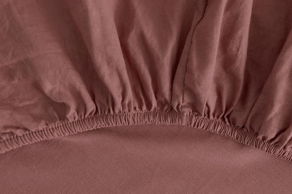 Plain Комплект Спално Бельо Единичен Размер 160x220 См Роза-Каки