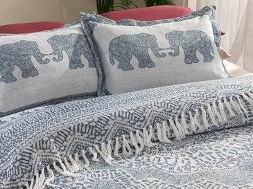 Boho Dream Комплект Покривало за Легло Единичен Размер 160x240 См Индиго