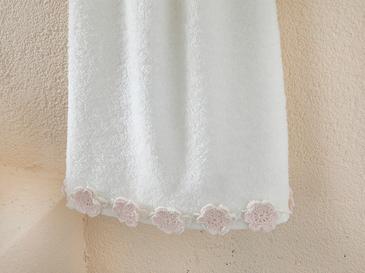 Crochet Flowers Хавлия За Лице 50x76 Cm Екрю-пудра Розово