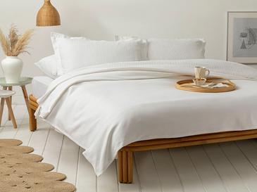 Etamin Покривка King Size Жакардово Тъкано Бяло