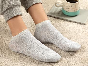 Silvery Дамски Чорапи Сиво