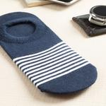 Marine Stripe Cotton Socks Mix Lacivert