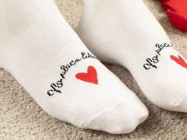 Чорапи Памучен Mix Червено-черно