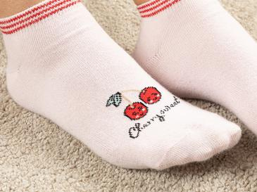Sweet Cherry Чорапи Памучен Mix Червено-розово