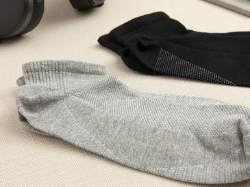 Sportive Мъжки Чорапи 2 Бр. Черно-Сиво