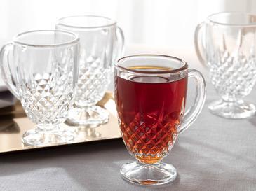 Rich Комплект Чаши за Чай Стъкло 4 Бр. 165 ml Прозрачно