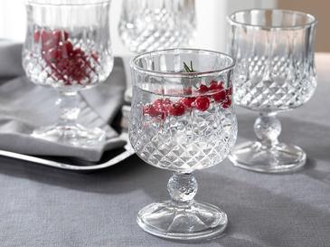Rich Чаша 4 Броя Стъкло 20,5x8,5x3,0 Cm Прозрачно