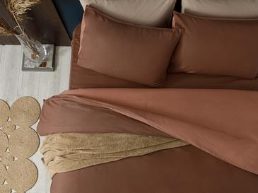 Plain Комплект Спално Бельо Единичен Размер 160x220 См Кафяво-Нюд