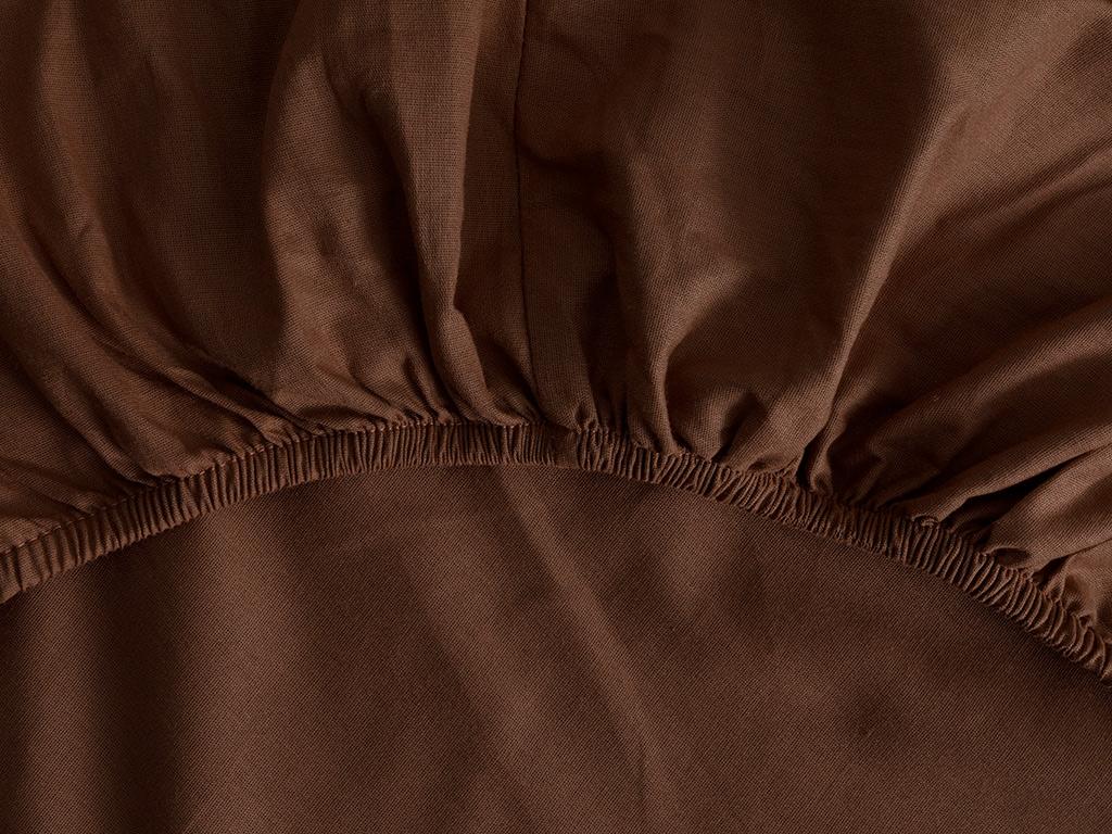 Plain Cotton Duvet Cover Full Set Single Size 160x220 Cm Coffee-Nude