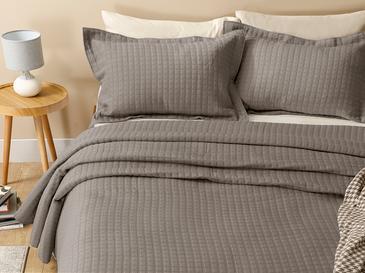 Покривка За Легло К Единични Жакардов 180 Ml Опушен Цвят