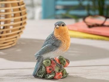 Fruit Loving Bird Декоративен Предмет 9,5x7x10,5 См Синьо