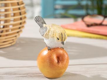 Pear Loving Bird Декоративен Предмет 9,5x7x1,.5 См Жълто