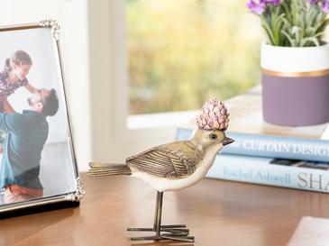 Funny Bird Декоративен Предмет 11x4,2x11 См Сиво-Лилаво