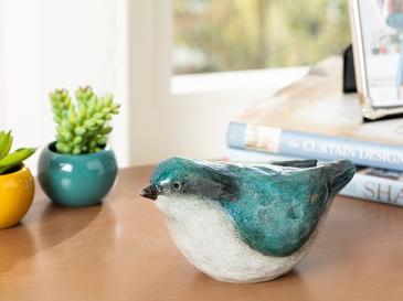 Robin Bird Декоративен Предмет 18,3x9,5x9,7 См Синьо
