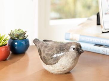Robin Bird Декоративен Предмет 18,3x9,5x9,7 См Кафе