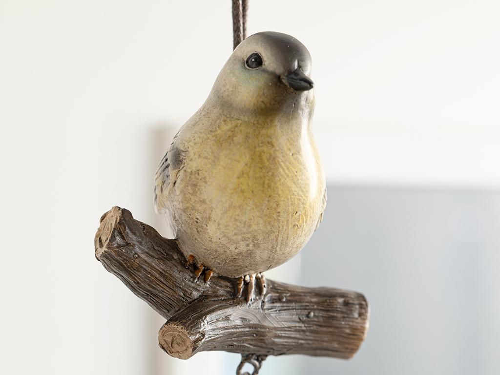 Bird Tweet Polyresin Accessory Wıth Hange Sarı