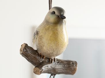 Bird Tweet Аксесоар Със Закачал Polyresin Жълто