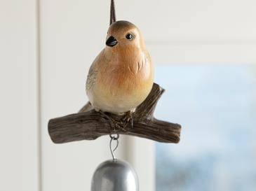 Bird Tweet Аксесоар Със Закачал Polyresin Червено