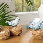 Happy Bird Polyresin Decoratıve Object Mavi