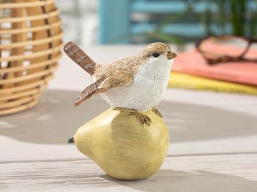 Apple Loving Bird Декоративен Предмет 9,5x7x10,5 См Жълто