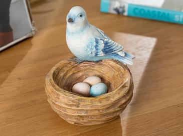 Cute Birds Декоративен Предмет 11x10x10,8 См Синьо