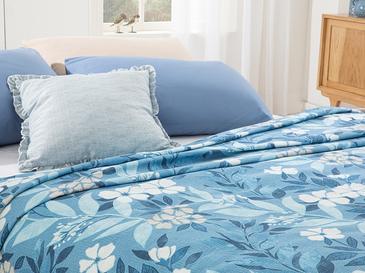 Summer Garden Покривка Единични Отпечатано 150x220 Cm Синьо
