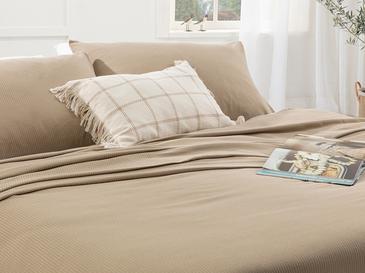 Cool Stripe Сет Пике-Лятно Одеяло Единичен Размер 150x220 См Бежово