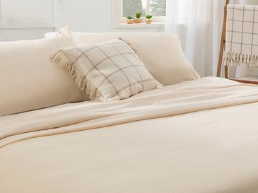 Cool Stripe Сет Пике-Лятно Одеяло Двоен Размер 200x220 См Слонова Кост