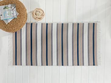 Timeless Stripe Килим 80x150 Cm Сиво-Тъмносиньо