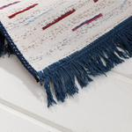 Retro Stripe Weaved Double Sided Rug 80x150 Cm White-navyblue
