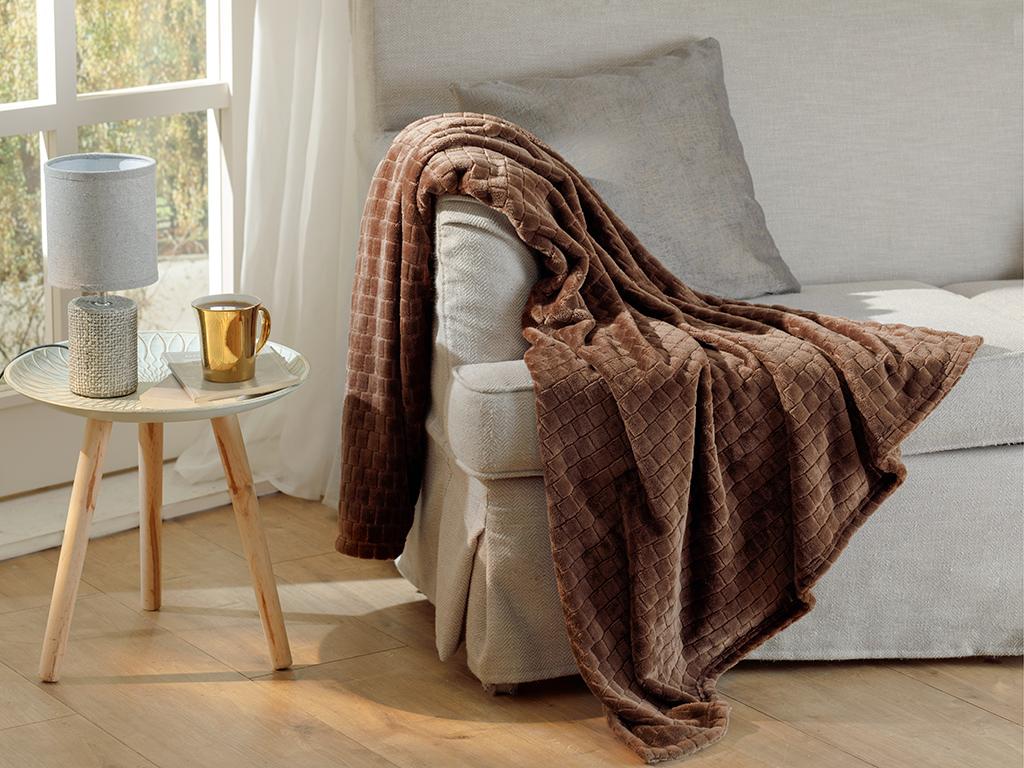Delicate Tv Blanket 120x130 Cm Kahve