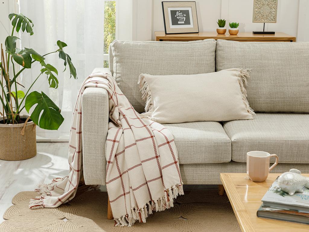 Cotton Polyester Chaır Shawl 130x170 Cm.