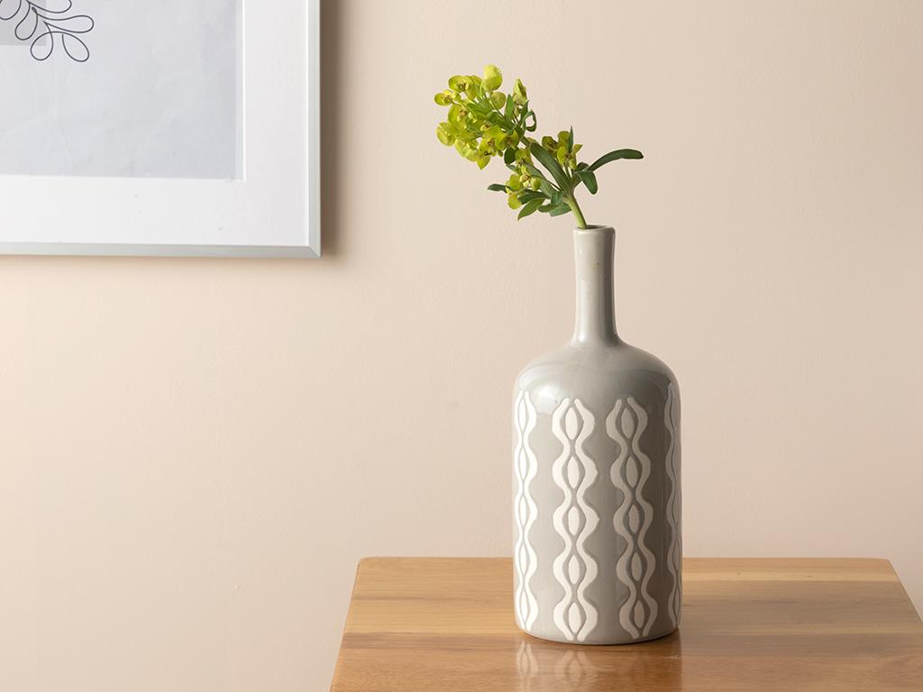 Waves Vase Gri