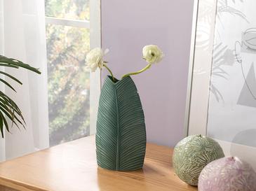 Pure Leaves Ваза 11x7x20 Cm Зелено