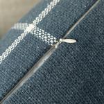 Modern Lines Cotton Polyester 45x45 Cm İndigo