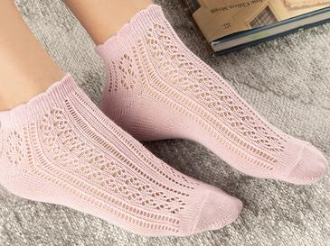 Amber Чорапи Памучен Mix Розов