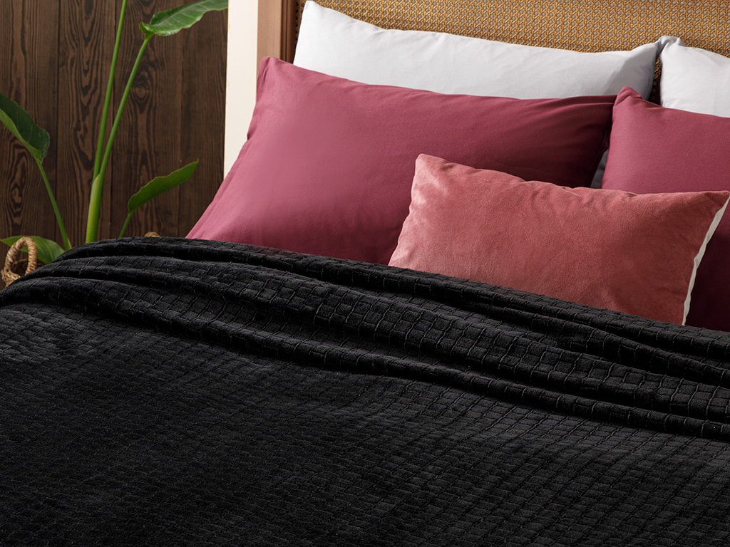 Delicate Double Person Blanket 200x220 Cm. Siyah