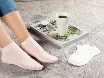 Sophia Дамски Чорапи 2 Бр. Розово-Бяло