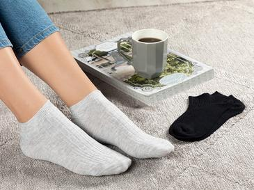 Sophia Дамски Чорапи 2 Бр. Черно-Сиво