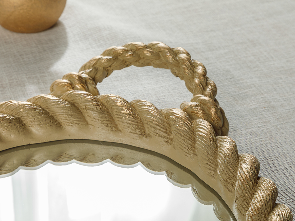 Rope Polyestere Tray 25 Cm Brown