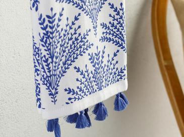 Кърпа За Изсушаване Памучен 40x60 Бяло-синьо