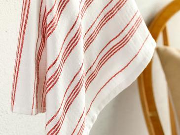 Marine Stripe Кърпа за Изсушаване 40x60 См Червено