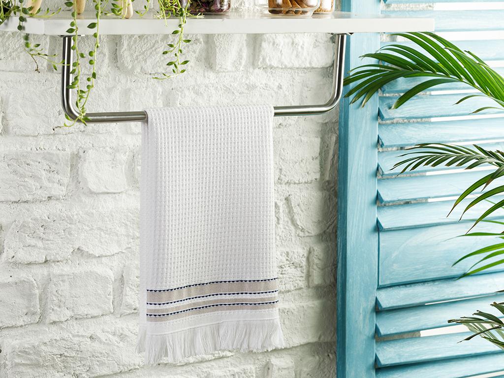 Marine Cotton Dryıng Cloth 40x60 Cm White