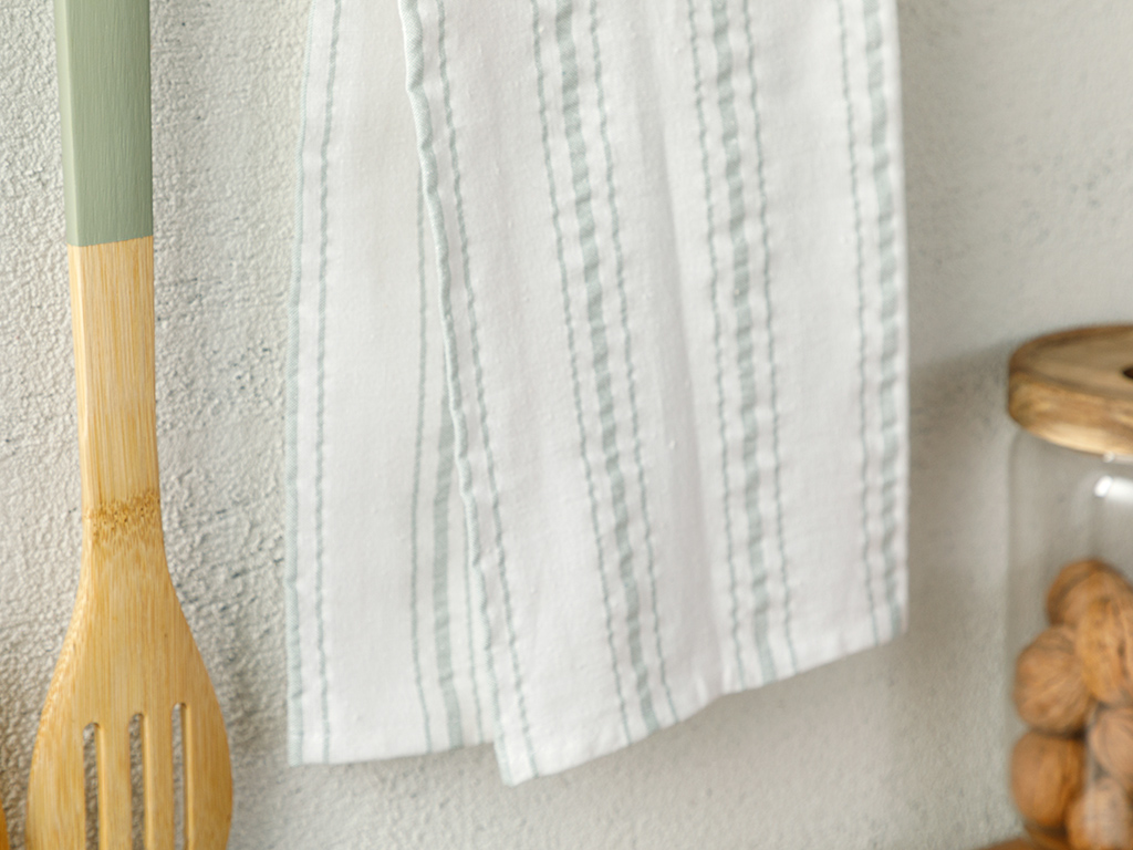 Softy Stripe Cotton Dryıng Cloth 40x60 Cm Green