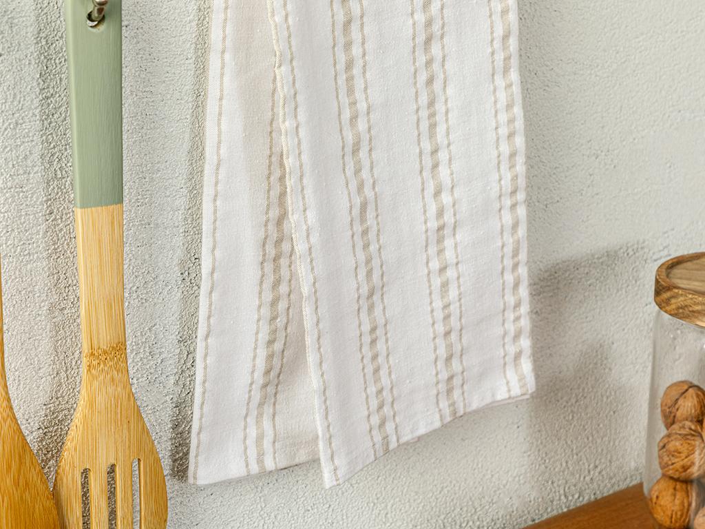 Softy Stripe Cotton Dryıng Cloth 40x60 Cm Kiwi Green
